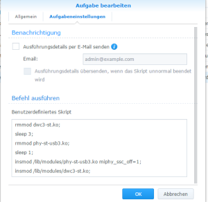 Synology DSM6 external USB Disk issue